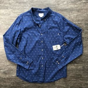 NWT Obey paisley print button up